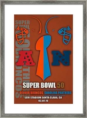My Super Bowl 50 Broncos Panthers 5 Framed Print by Joe Hamilton