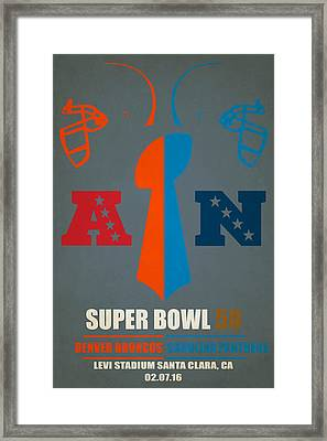 My Super Bowl 50 Broncos Panthers Framed Print by Joe Hamilton