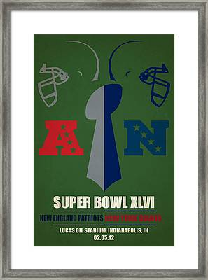My Super Bowl Patriots Giants Framed Print by Joe Hamilton