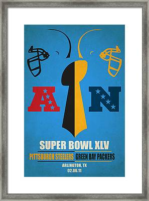 My Super Bowl Steelers Packers Framed Print by Joe Hamilton