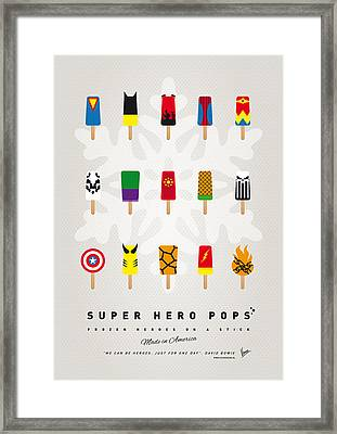 My Superhero Ice Pop - Univers Framed Print by Chungkong Art