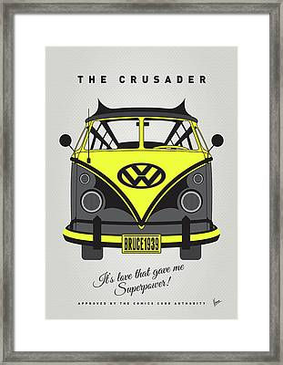 My Superhero-vw-t1-batman Framed Print by Chungkong Art