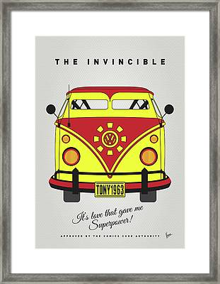 My Superhero-vw-t1-iron Man Framed Print