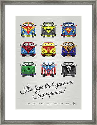 My Superhero-vw-t1-supermanmy Superhero-vw-t1-universe Framed Print by Chungkong Art