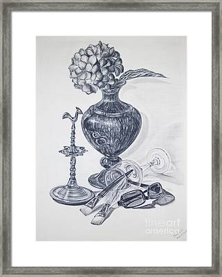 My Surroundings - Still Life Framed Print by Chethmini Liyanapatabendy