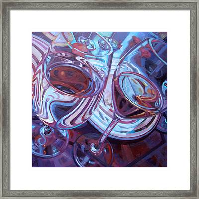 My Swanson Swirls Framed Print by Penelope Moore