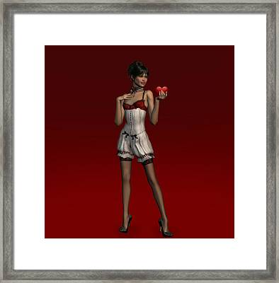 My Sweet Little Valentine . . . Framed Print by David Griffith