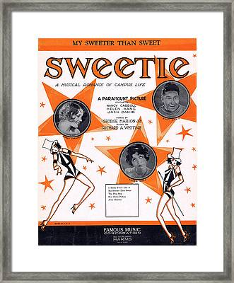 My Sweeter Than Sweet Framed Print