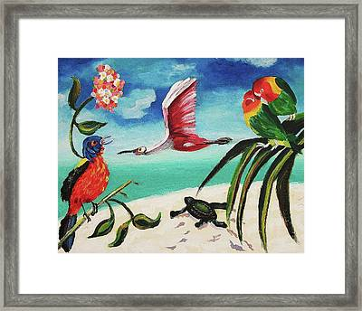 My Texas Song Bird Framed Print by Suzanne  Marie Leclair