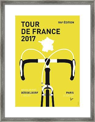 My Tour De France Minimal Poster 2017 Framed Print