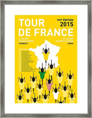 My Tour De France Minimal Poster Etapes 2015 Framed Print by Chungkong Art