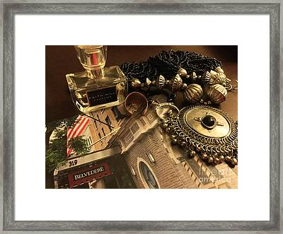 My Travel Feminine Accoutrements  Framed Print