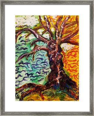 Framed Print featuring the mixed media My Treefriend by Mimulux patricia no No