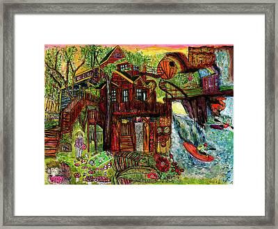 My Treehouse Paradise  Framed Print by Lindsay Strubbe