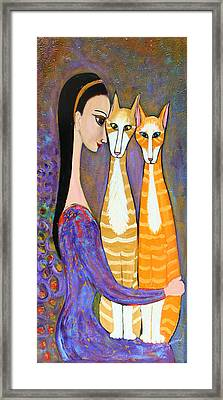 My Two Cats Framed Print