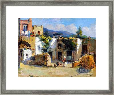 My Uncle Farm House Framed Print