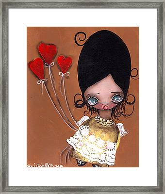 My Valentine Framed Print by  Abril Andrade Griffith