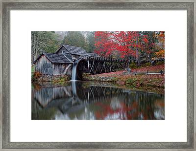 My Version Of Mabry Mills Virginia  Framed Print