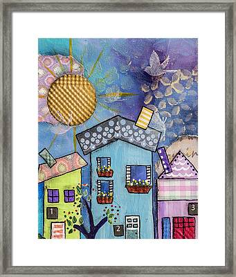My Village 2 Framed Print by Wendy Provins