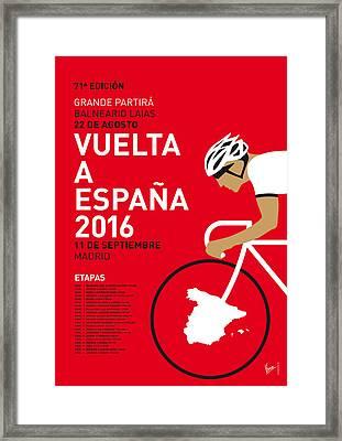 My Vuelta A Espana Minimal Poster 2016 Framed Print