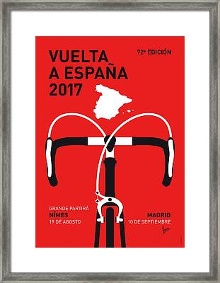 My Vuelta A Espana Minimal Poster 2017 Framed Print by Chungkong Art