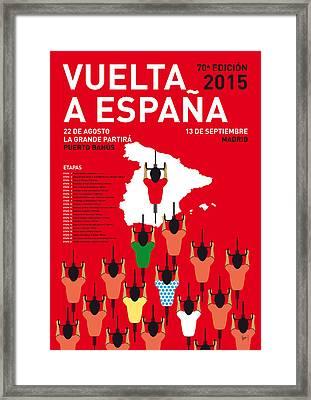 My Vuelta A Espana Minimal Poster Etapas 2015 Framed Print