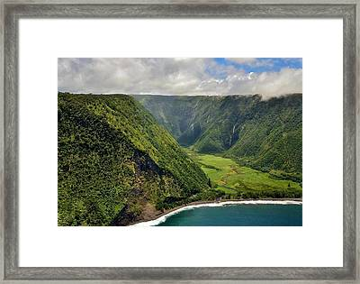 My Waterfall Valley  Framed Print