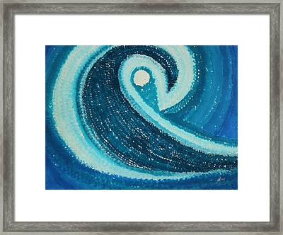 My Wave Original Painting Framed Print