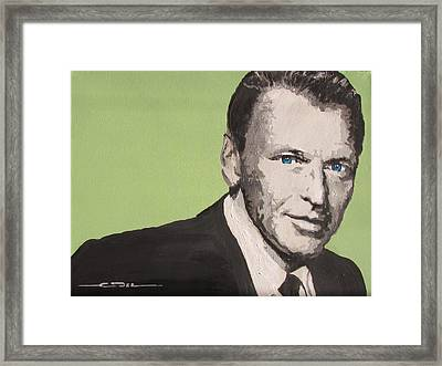 My Way - Frank Sinatra Framed Print by Eric Dee