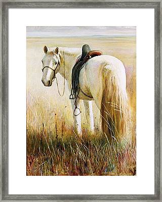 My White Horse  Framed Print