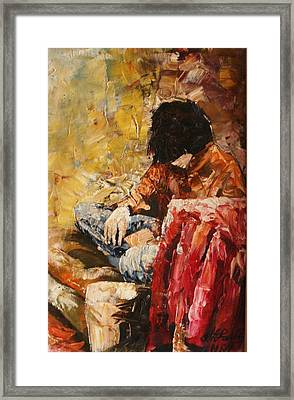 My Wife Framed Print by Vasile Ion