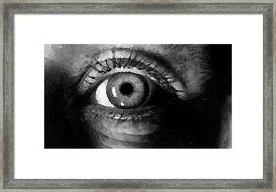 Framed Print featuring the digital art My Window In Bw by Shelli Fitzpatrick