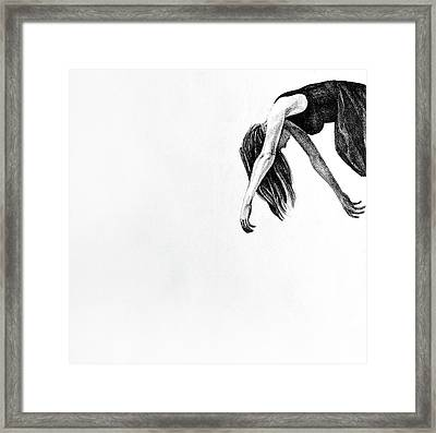 My Wings, 2015, 50-50cm, Graphite Crayon On Paper Framed Print by Oana Unciuleanu