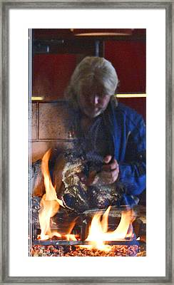 My World On Fire Framed Print by James Granberry