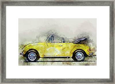My Yellow Bug Framed Print