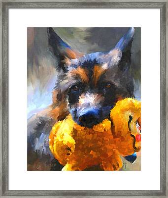 My Yellow Friend Framed Print by Jai Johnson