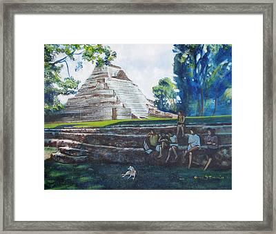 Myan Temple Framed Print by Howard Stroman