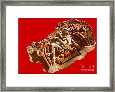 Framed Print featuring the digital art Myan Wall Art D by Francesca Mackenney