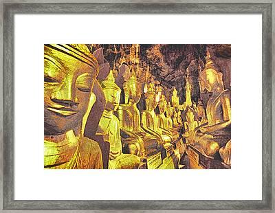 Myanmar Buddhas Framed Print by Dennis Cox WorldViews