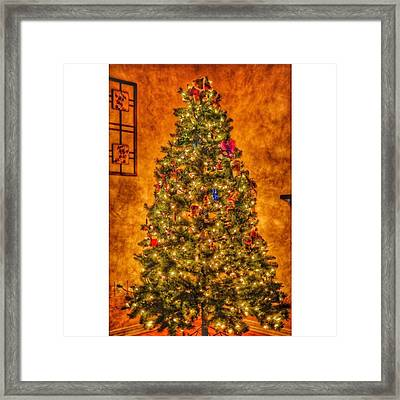 #myhouse #myhome #tree #christmas Framed Print by David Haskett