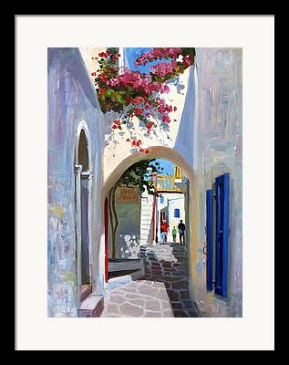 Mykonos Framed Prints