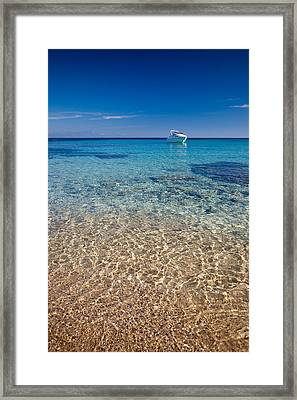 Mykonos Beach Framed Print by Neil Buchan-Grant