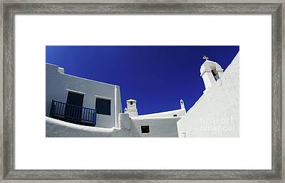 Framed Print featuring the photograph Mykonos Greece Clean Line Architecture by Bob Christopher