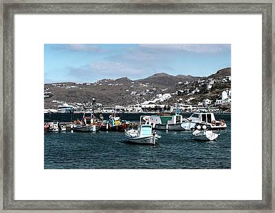 Framed Print featuring the photograph Mykonos Greece II by Tom Prendergast