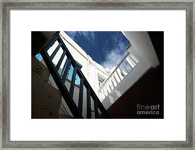 Mykonos Town Angles Framed Print