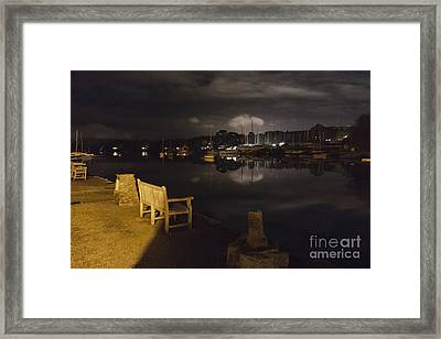Mylor Bridge Creek At Night Framed Print by Terri Waters