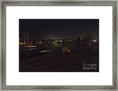 Mylor Creek At Night Framed Print by Terri Waters