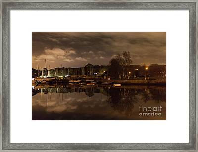 Mylor Creek In Winter Framed Print by Terri Waters