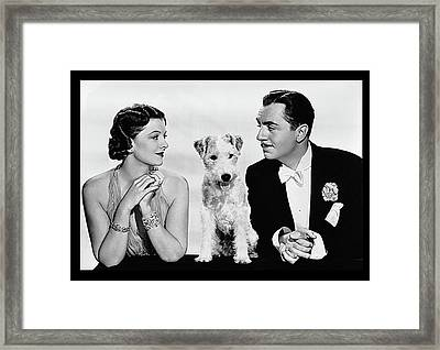 Myrna Loy Asta William Powell Publicity Photo The Thin Man 1936 Framed Print by David Lee Guss
