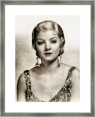 Myrna Loy, Vintage Actress Framed Print